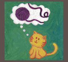 Daydreaming Kitten: Yarn!  One Piece - Short Sleeve