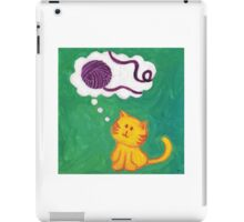 Daydreaming Kitten: Yarn!  iPad Case/Skin