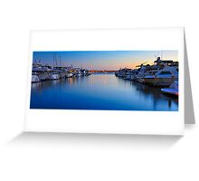 Sunset over the Marina Greeting Card