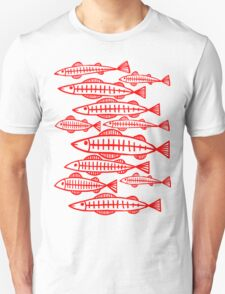 X-Ray Fish - Red T-Shirt