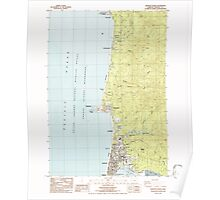 USGS Topo Map Oregon Newport North 280920 1984 24000 Poster