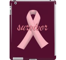 Survivor with Pink Ribbon iPad Case/Skin