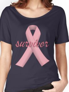 Survivor with Pink Ribbon Women's Relaxed Fit T-Shirt