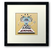 Ernie, Premium bonds computer Cartoon Framed Print