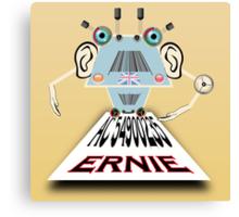 Ernie, Premium bonds computer Cartoon Canvas Print