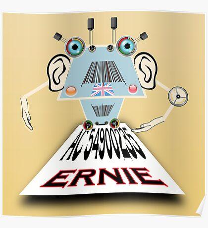 Ernie, Premium bonds computer Cartoon Poster