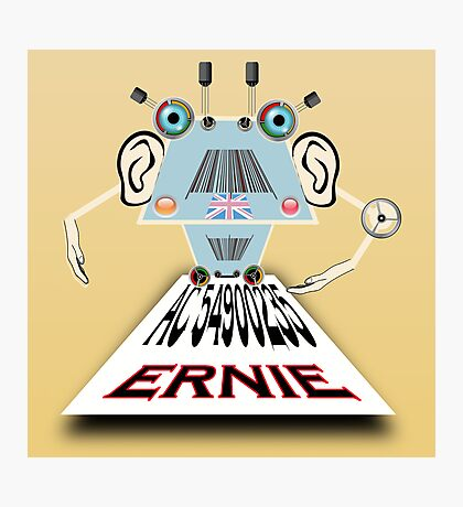 Ernie, Premium bonds computer Cartoon Photographic Print