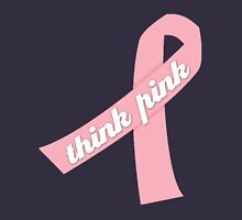 Think Pink with Pink Ribbon Unisex T-Shirt