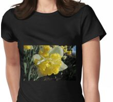 Double Hybrid Daffodil Womens Fitted T-Shirt