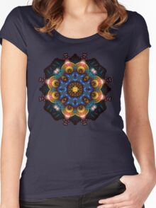 Fractal Art May Mandala Women's Fitted Scoop T-Shirt