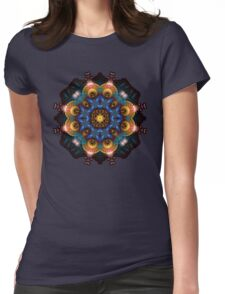 Fractal Art May Mandala Womens Fitted T-Shirt