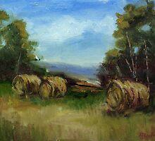 Haybales by AJ  Devlin