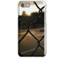 Raindrops on a Fence iPhone Case/Skin