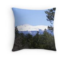 Pikes Peak in May Throw Pillow