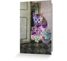 Caffeine Cat Greeting Card
