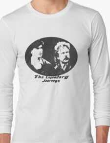 Rowsdower:  Zap And Troy the Legendary Journeys Tee (b&w version) Long Sleeve T-Shirt