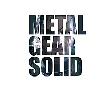 Big Boss from Metal Gear Solid: Ground Zeroes Photographic Print