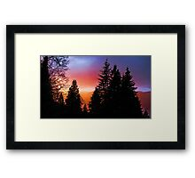 Twighlight Colours Framed Print