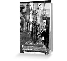 Chained angel Greeting Card