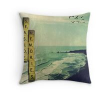 """Seaside Memories"" Throw Pillow"