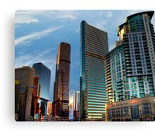 """Illuminate Downtown"" HDR Canvas Print"