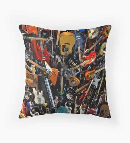 """Wall of Sound"" Throw Pillow"