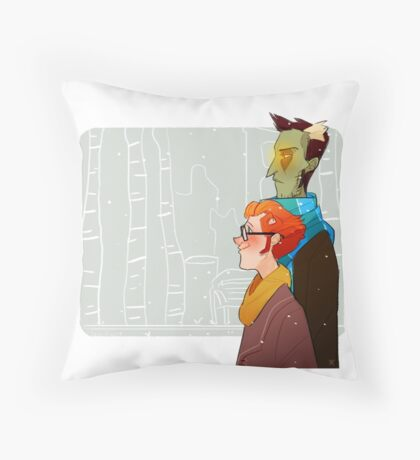 the undead probably have no body heat Throw Pillow