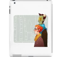 the undead probably have no body heat iPad Case/Skin