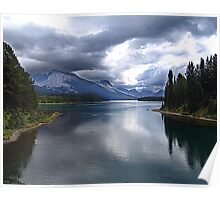 Beautiful Lake Maligne Poster