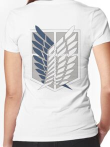 Attack on titan: Surveying Corps Women's Fitted V-Neck T-Shirt