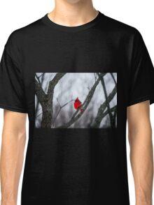 Cardinal In A Snow Storm Classic T-Shirt