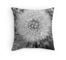 051311-94   FLUFFY IN BLACK & WHITE Throw Pillow