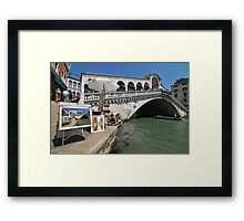 Trickery on the Rialto bridge Framed Print