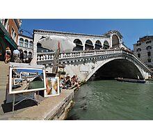 Trickery on the Rialto bridge Photographic Print