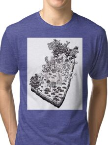 Whimsical Garden Patch Tri-blend T-Shirt