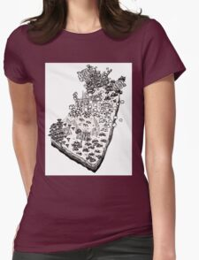 Whimsical Garden Patch Womens Fitted T-Shirt