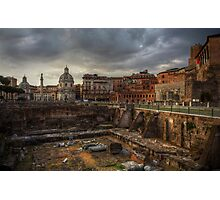 The ruins of Forum Augustus Photographic Print