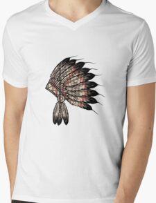 Native American Headdress Mens V-Neck T-Shirt