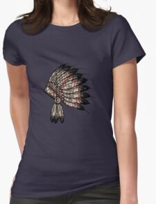 Native American Headdress Womens Fitted T-Shirt