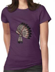 Native American Headdress Womens Fitted T-Shirt