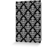 Damask Pattern | Black & White Greeting Card
