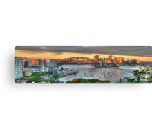 Morning Arrival - Sydney Harbour, Sydney Australia - The HDR Experience Canvas Print