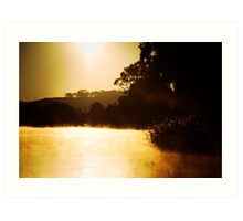 Sunrise near Mannum Art Print
