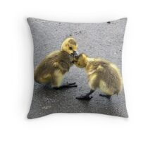 Chick Fight Throw Pillow