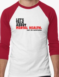 Start the Conversation - Mental Health Men's Baseball ¾ T-Shirt