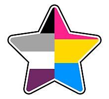 Panromantic Asexual Star Photographic Print