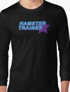 Hamster Trainer Blue/Purple Long Sleeve T-Shirt