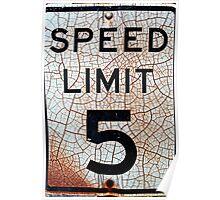 5 mph Poster