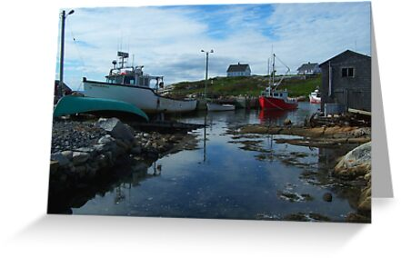 The Red Boat In The Back by Mike  MacNeil