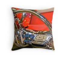 1956 Ford Victoria W/Continental Kit Throw Pillow